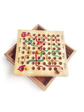 SNAKE AND LADDER TOY WOODEN GAME BOARD BABY KIDS CHILDREN PARTY WOOD BOX GIFT