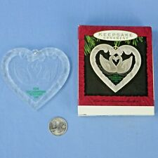Hallmark Our First Christmas Together Acryilic Swan Ornament in Original Box NOS