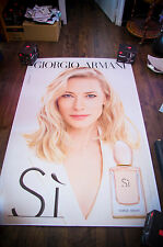 ARMANI SI CATE BLANCHETT A 4x6 ft Bus Shelter Original Celebrity Fashion Poster