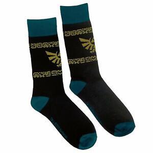 Nintendo Legend of Zelda Hyrule Crest Knit Socks, Black, One Size