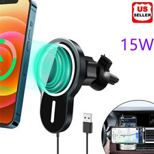 15W Magnetic Car Air Vent Mount Charger Phone Holder Wireless Charging Pad Only Compatible with iPhone 12//12 mini//12 Pro//12 Pro Max Black+Grey FutureCharger Magnetic Wireless Car Charger