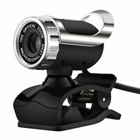 USB 12MP HD Webcam Web Cam Camera w/MIC Clip-on for Laptop Desktop PC Skype MSN