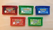 Game Boy Advance Pokemon 5 Game Bundle FireRed Sapphire Leaf Green Ruby Emerald a