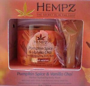 2 PAK~ HEMPZ~ Hydrating Body Mask~ Pumpkin Spice & Vanilla Chai~ LIMITED EDITION