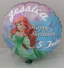 "18"" Personalised Disney Little Mermaid Happy Birthday Balloon Ariel FREE P&P"