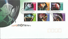 2009 FDC Micro Monsters set of 6 on FDC  FD1 28 July Sydney NSW