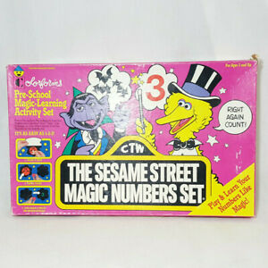 Vintage Colorforms Sesame Street Muppets Magic Numbers Set