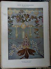 Lithographie Décor sur cuir Schauer Art nouveau - Album de la Décoration - V3