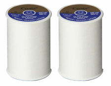Coats and Clark Dual Duty All Purpose Thread, White (2 Pack) 400yd Spools