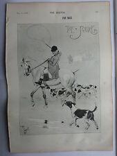"""Il Squire 0 cucil ALDIN stampa 1897 14 """"X 10"""""""