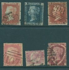 GB Queen Victoria used line-engraved stamp collection 1841-1870