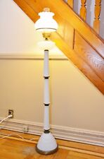 Unique Vintage HOBNAIL MILK GLASS FLOOR LAMP Excellent Working Condition