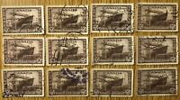 CANADA-1942 # O260 x 12 20c 'CORVETTE' 'OHMS' PERFORATED OFFICIAL USED STAMPS