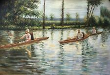 """Caillebotte Gustave  reproductions Oil Painting  - Perissoires - size 36""""x24"""""""