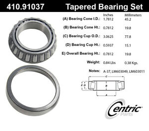 Wheel Bearing and Race Set-4WD Centric 410.91037E