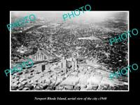 OLD LARGE HISTORIC PHOTO OF NEWPORT RHODE ISLAND AERIAL VIEW OF THE CITY 1940 2