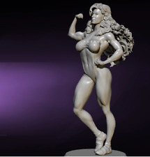 1/24 75mm Resin Figure Model Kit Tough Blond muscled GIRL unpainted unassembled