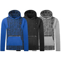 NEW Men Hip Hop Abstract Art Hooded Sweater Long Sleeve Pullover Sizes S-XL