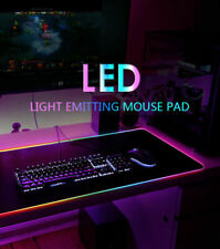 New listing Led Large Gaming Mouse Pad Rgb Oversized Glowing 10 Colors 31.5X12'' Waterproof