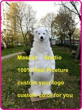 Polar Bear Mascot Costume Suit Cosplay Party Game Dress Outfit Halloween Adult