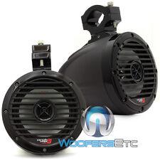 "CERWIN VEGA VMC65TB TEXTURED BLACK 6.5"" 2-WAY TWEETER MARINE BOAT TOWER SPEAKERS"