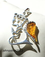 Young Angel  Baltic Amber Pendant  with Silver 925