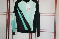 PEARL IZUMI LAUNCH THERMAL JERSEY RELAXED FIT WOMEN SZ S BLACK & AQUA NWT RET. 7