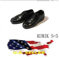 ❶❶1/6 kumik women oxford flats shoes black S-5 Phicen hot toys US seller❶❶