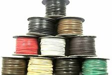 3mm Flat Genuine Leather Thonging Strip Laces Cord Various Colours And Lengths