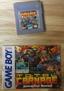 Total Carnage Nintendo Game Boy with Manual