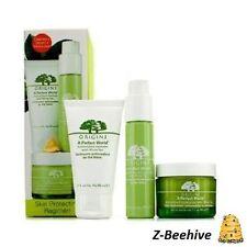 3 PC BNIB Origins A Perfect World Antioxidant Cleanser Moisturizer Cream SEALED