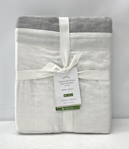 "NEW Pottery Barn Basic Belgian Flax Linen CAL KING Bed Skirt~14"" Drop~Flagstone"