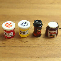 1Pc Dollhouse Miniature 1:12 Kitchen Food Coffee Jam Condiment DIY Decor Kit
