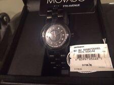 MOVADO Cerena Black Ceramic Diamond Swiss Women's Watch 0606693 $1795+