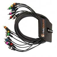 8-Way 3m RCA Phono to RCA Phono Loom / Effects Patch / Multicore Cable