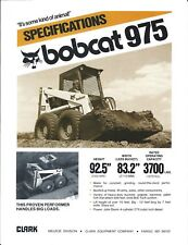 Equipment Brochure - Bobcat - 975 - Skid Steer Loader - c1980 (E4311)