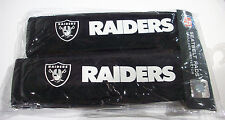 NIP NFL OAKLAND RAIDERS SEAT BELT PADS VELOUR PAIR