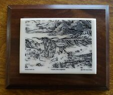 1994 Donnie Nahlen Plaque - Leader Of Longhorns Etched in Montana Marble 6 x 5