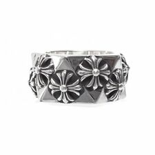 Authentic [Chrome Hearts] PENTAGON CH PLUS RING, All Size Available
