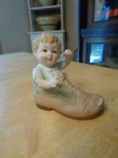 """Lefton China Baby In Shoe~Figurine~Hand Painted~4""""~"""