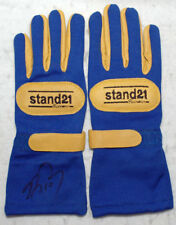 Alain Prost Signed - Autographed - Replica Racing F1 1993 Gloves Pair With Proof