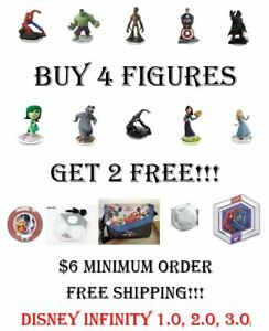 Disney Infinity 1.0 2.0 3.0 - Pick Your Figures Buy 4 Get 2 Free - $6 Min. Order