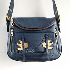 NWT Marc by Marc Jacobs Natasha Petal To The Metal Leather Crossbody Bag Navy