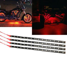 "4pcs Red 12"" 30cm 15 LED Flexible Strip Light Waterproof For ATV UTV  Moto"