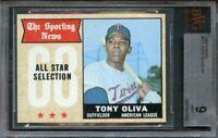 1968 topps #371 TONY OLIVA AS minnesota twins BGS BVG 9