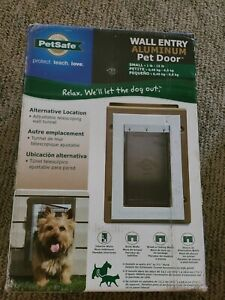 NEW PetSafe Wall Entry Aluminum Pet Door Small