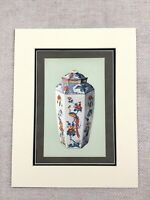 1910 Antico Cromolitografia Chelsea Porcellana Vaso Giapponese Kakiemon Ware
