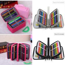 72 Slots Pencil Case Handy Large Capacity Oxford Multi-layer Makeup Zipper Bag