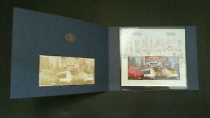 [SJ] Belgium Railway 50 Years North-South Connection 2002 Train (folder set) MNH