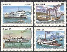 Brazil 1985 Boats/Ferry/Passenger Ferries/Transport/Nautical 4v set (n38086)